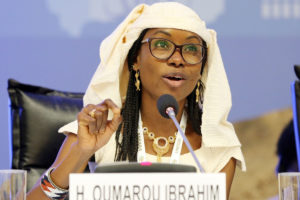 Hindou Oumarou Ibrahim represents Chad's civil society - a great female speaker